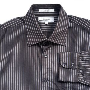 Faconnable Mens Striped Shirt Size L